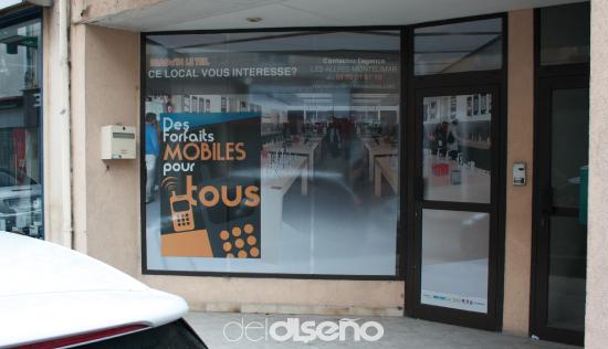 conception et pose de vitrine trompe oeil - Deldiseno.fr