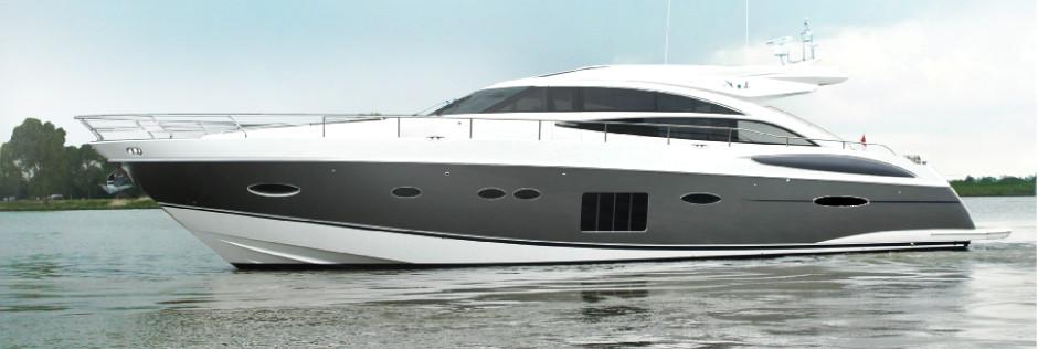 Covering de la coque sur ce yacht