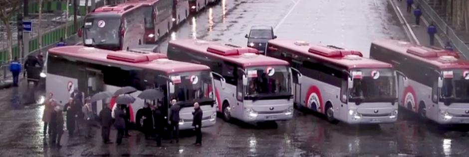 Covering des bus des 100 ans de l'Armistice