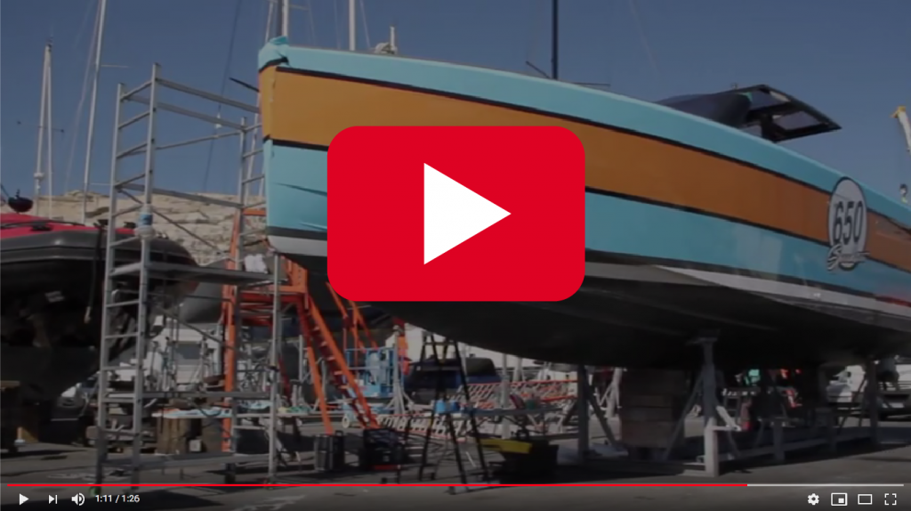 clip vidéo yacht wrapping
